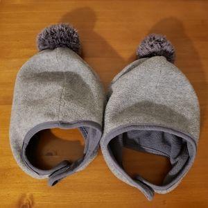 Old Navy Fleece Toddler Hats with Pompom Set of 2 Size Medium